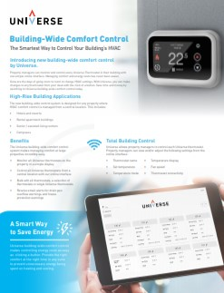 Building wide confort control manual cover image